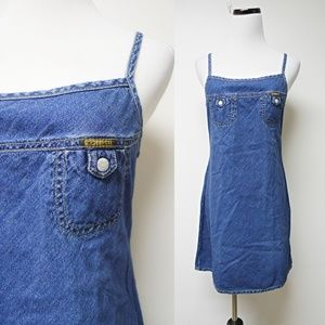 VTG 90s Diesel  spaghetti strap denim dress